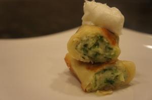 Broccoli-Spinach-Mushroom Crepe