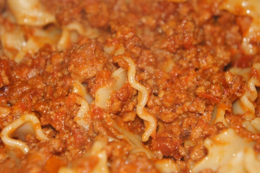 Up close and personal with bolognese.......