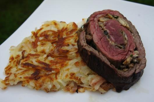 Stuffed Grilled Skirt Steak