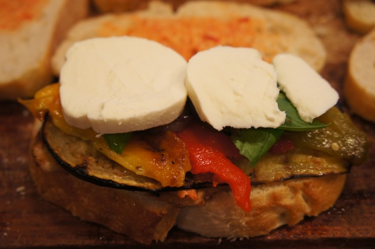 Grilled Vegetable and Chicken Paninis