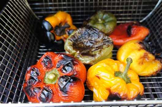 Roasting Peppers on the Grill 2