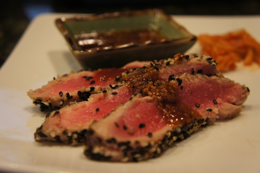 Sesame Pepper Encrusted Seared Tuna