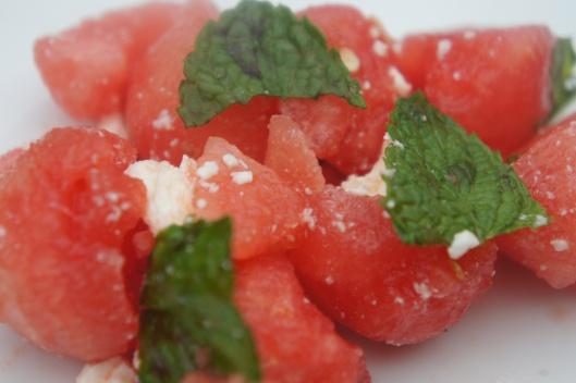 watermelon-mint-feta salad
