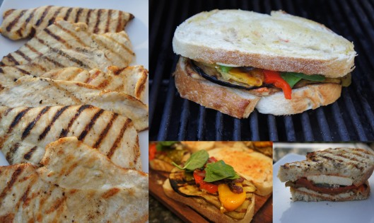 Grilled Chicken and Vege Panini