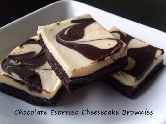 chocolate espresso cheesecake brownies