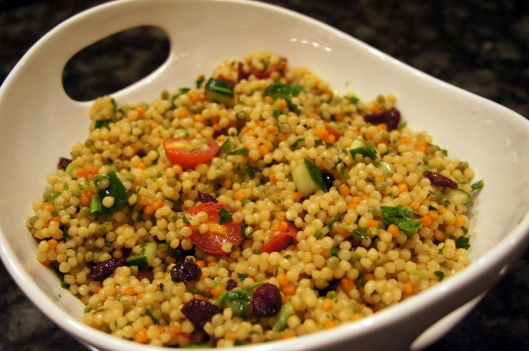 Rainbow Couscous Salad: