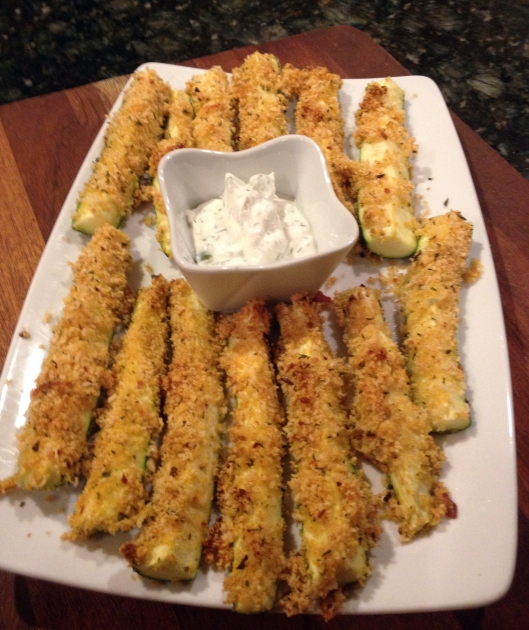 Crunchy Oven Baked  Zucchini Fingers