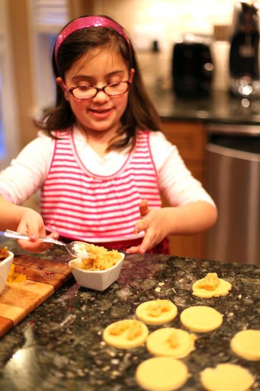 Making Salted Caramel Apple Hamantaschen