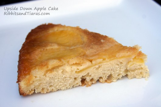 Slice of Upside Down Apple Cake