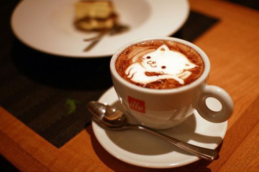 Cute Kitten Latte Coffee Art