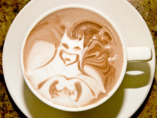 Batman Latte Coffee Art