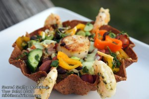Seared Scallop and Shrimp Salad Bowl