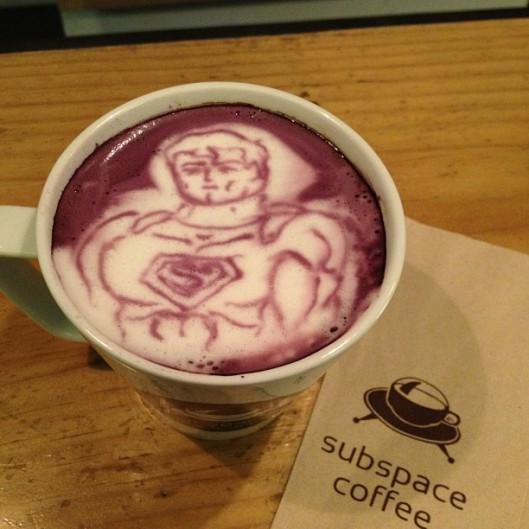 Superman Coffee Latte Art