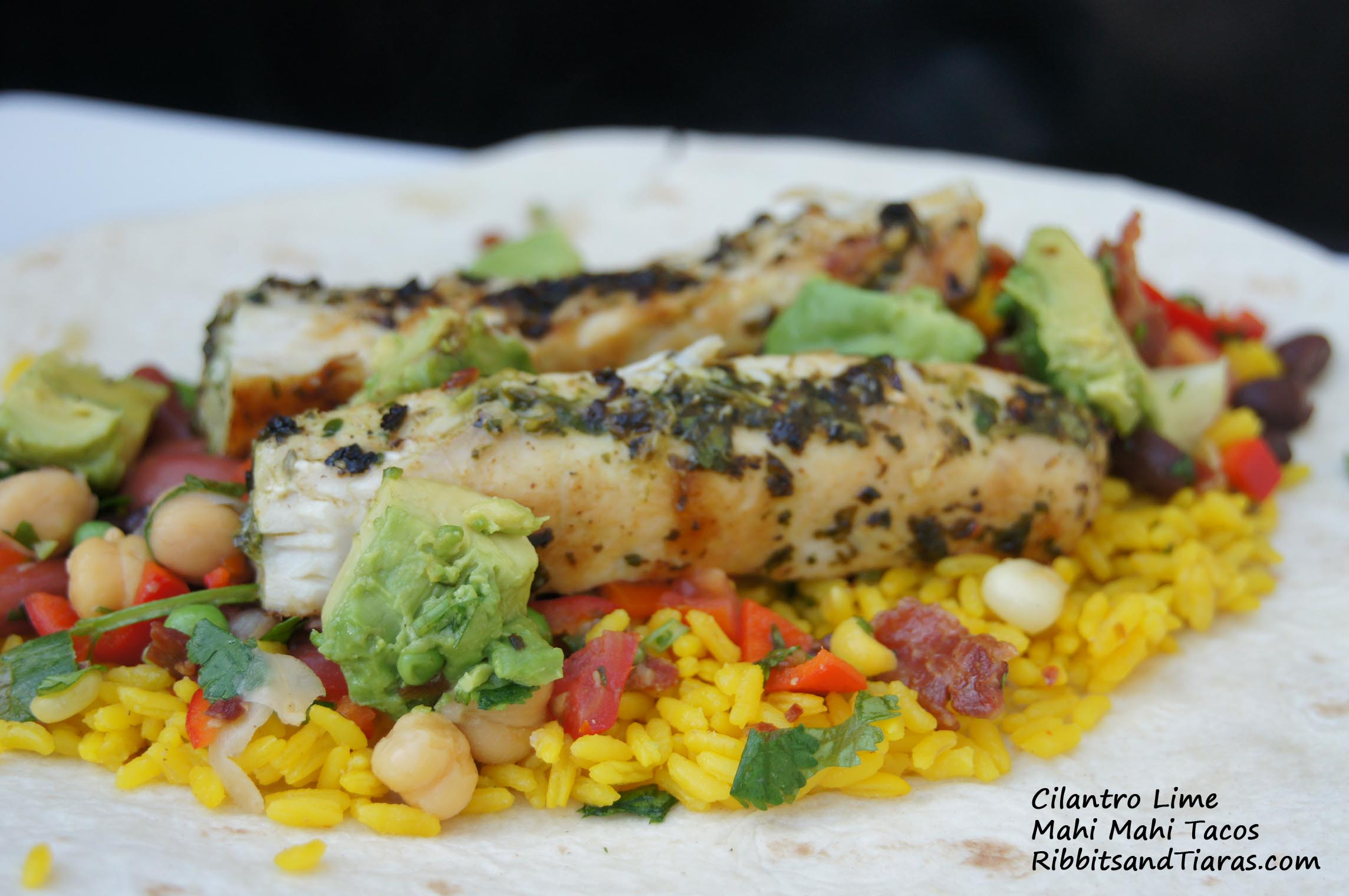 ... is for Yellow Rice and Cilantro Lime Mahi Mahi Tacos | Bits and Bytes