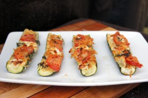 Zucchini Tomato Cheese Basil Sticks