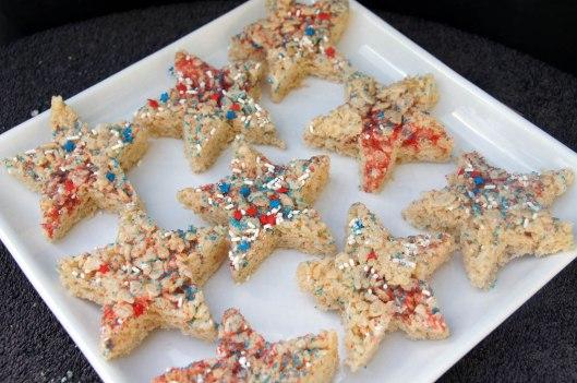 Star Shaped Rice Crispy Treats for July 4th