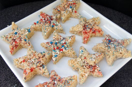 Star Shaped Rice Crispy Treats for July 4th