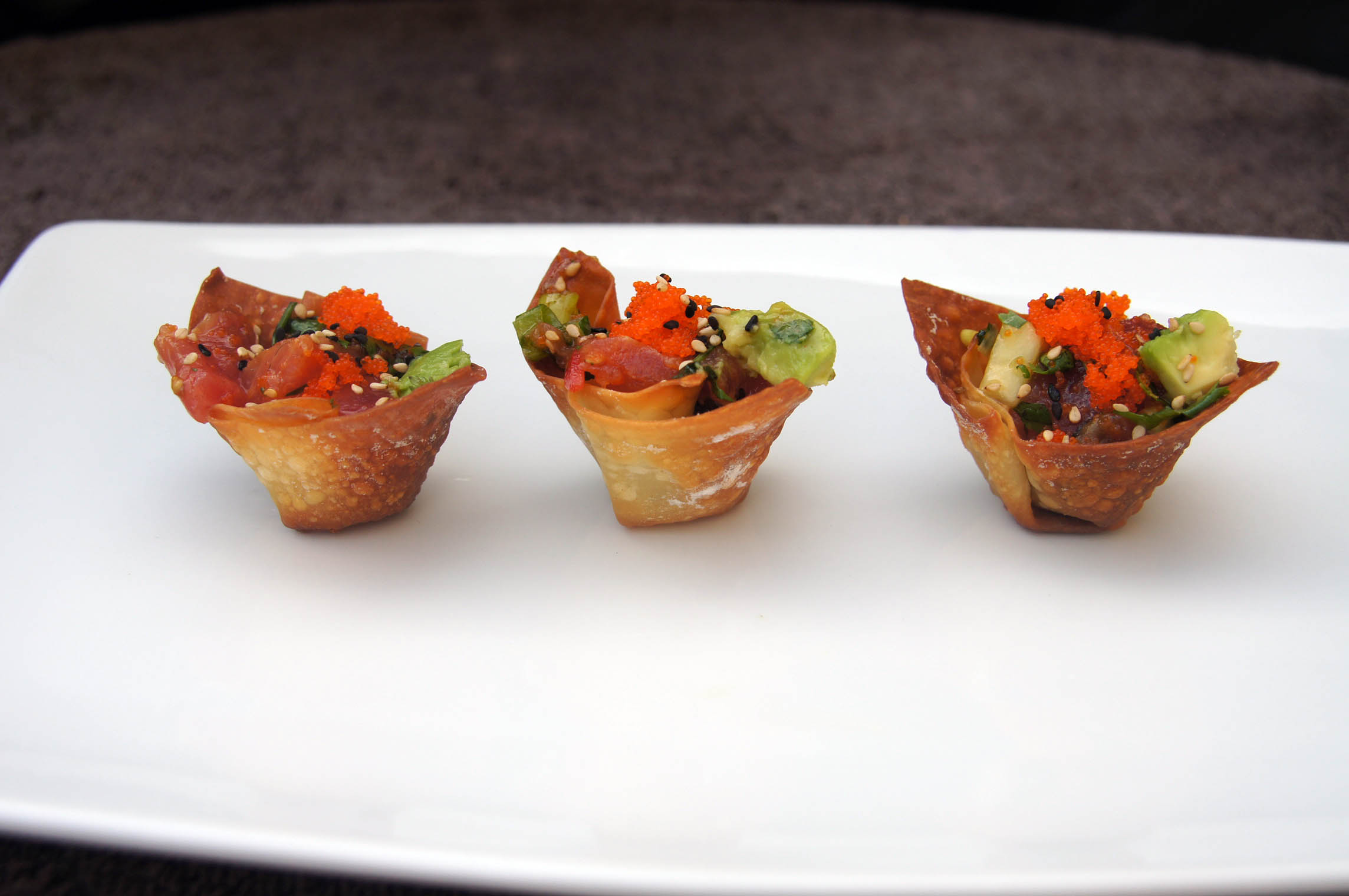 Tuna Tartare Wonton Cups | Bits and Bytes