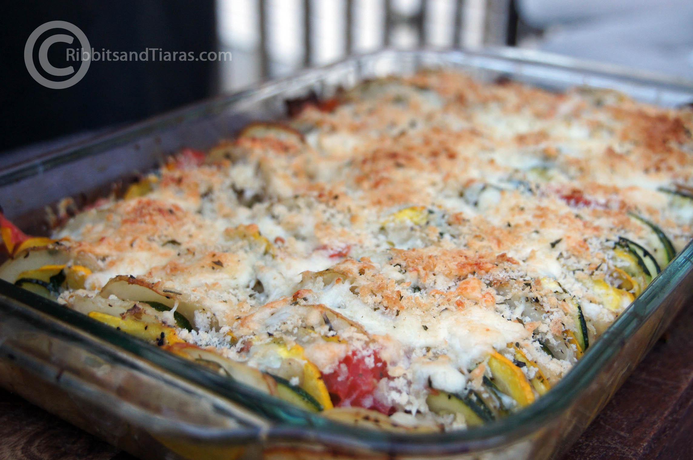 Release The Gratin! Summer Fresh Vegetable Gratin | Bits and Bytes
