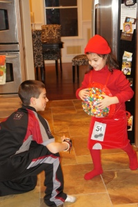 Red Gumball Machine Meets Peeta Mellark From the Hunger Games