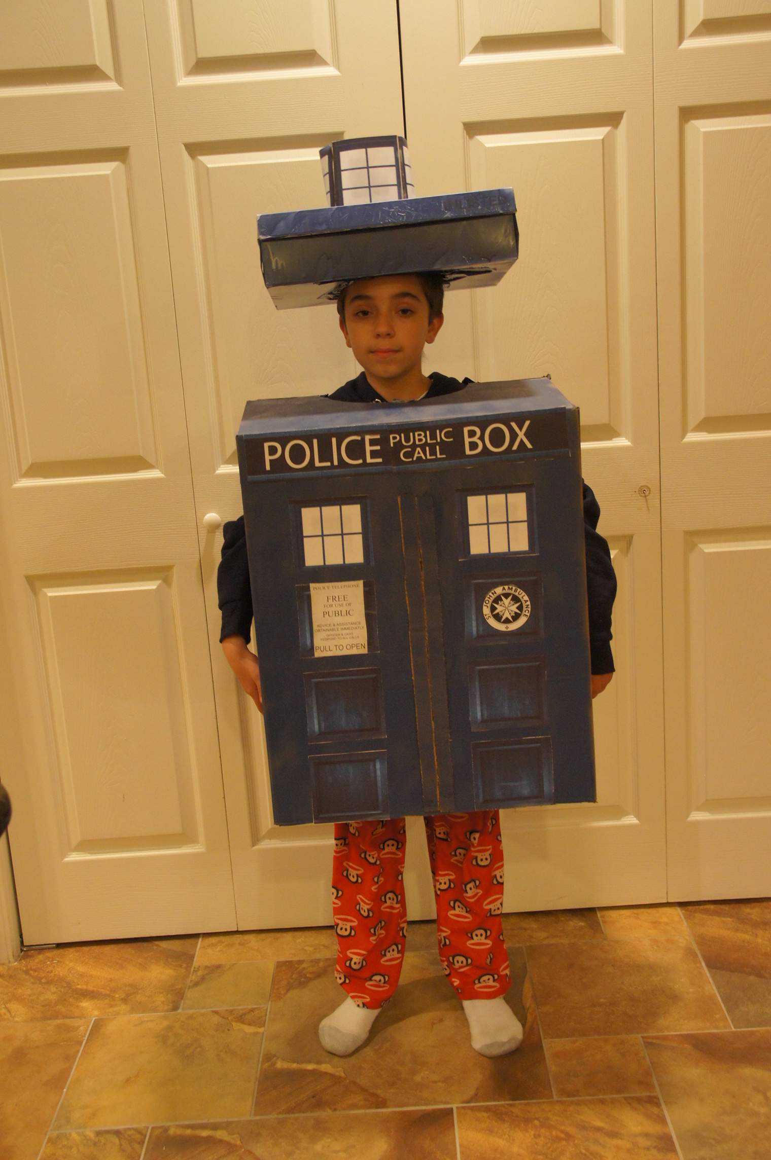 Tardis Costume  sc 1 st  Bits and Bytes & Halloween 2013: Time Travel with a Dr. Who Tardis Costume | Bits and ...