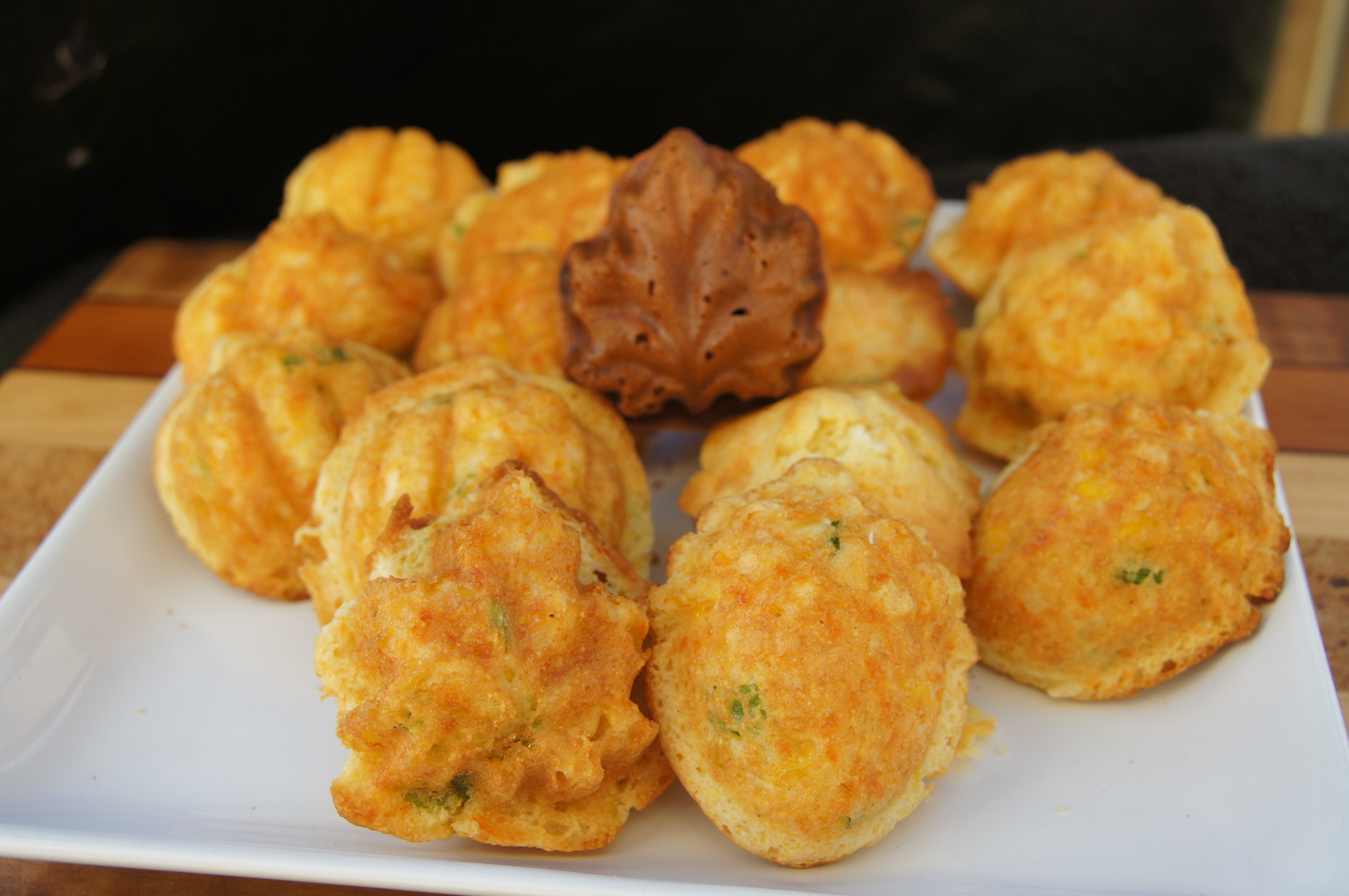 Mini cornbread muffins infused with lots of aged cheddar, whole corn ...