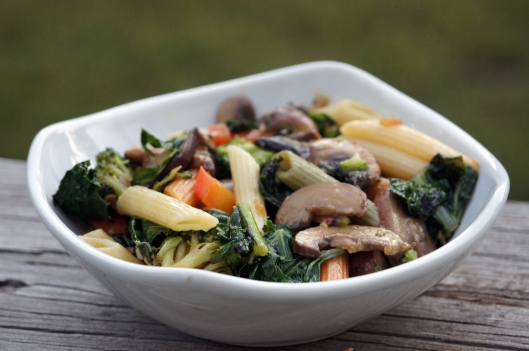 4 Mushroom and Kale Pasta