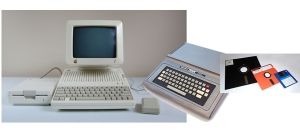 Apple 2C, & TRS-80 COCO, floppies