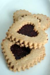 Heart Shaped Linzer Tart Cookie