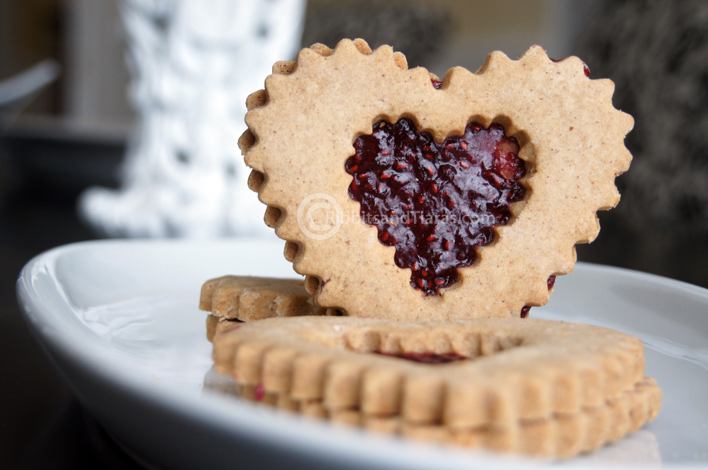 Heart Shaped Linzer Tart Cookies For Valentines Day