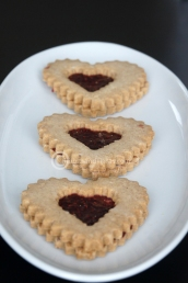 Heart Shaped Linzer Tart Cookie