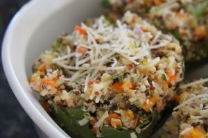 quinoa stuffed artichoke