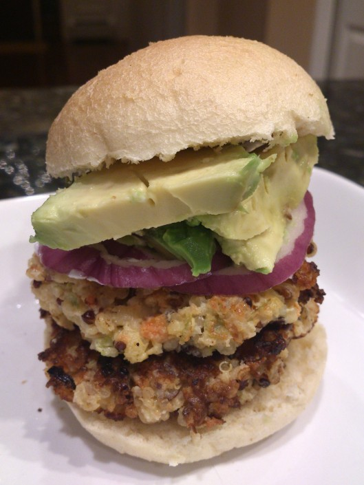 Rainbow Quinoa Burger