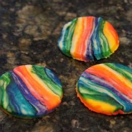 Tie Dye Rainbow Hamantaschen